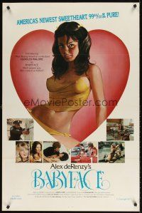 7c026 BABYFACE 1sh '77 classic Alex de Renzy, sexy art of America's newest sweetheart!