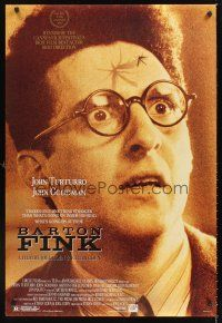 7c035 BARTON FINK DS 1sh '91 Coen Brothers, wacky c/u of John Turturro with mosquito on forehead!