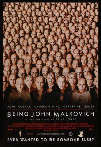 7c046 BEING JOHN MALKOVICH int'l 1sh '99 Spike Jonze directed, Cusack, Cameron Diaz, Keener!