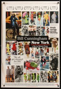 7c048 BILL CUNNINGHAM NEW YORK arthouse 1sh '10 images from most famous NYC street fashion photog!