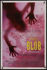 7c055 BLOB 1sh '88 really wild horror image, Chuck Russell sci-fi remake!