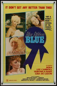 7c062 BLUE RIBBON BLUE 1sh '85 Seka, Annette Haven, x-rated doesn't get any better than this!