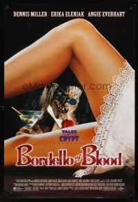 7c066 BORDELLO OF BLOOD int'l DS 1sh '96 Tales From the Crypt, image of Crypt-Keeper w/sexy legs!