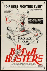 7c070 BRAWL BUSTERS 1sh '81 martial arts kung fu, those turkeys fight dirty!