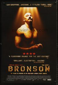 7c073 BRONSON DS 1sh '08 Nicolas Winding Refn, cool image of Tom Hardy in title role!