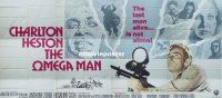 7m002 OMEGA MAN int'l 24sh '71 Charlton Heston is the last man alive, and he's not alone!