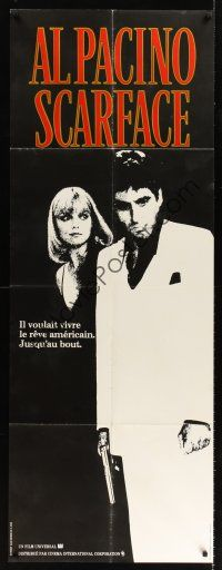 7m052 SCARFACE French door-panel '84 best image of Al Pacino as Tony Montana & Michelle Pfeiffer!