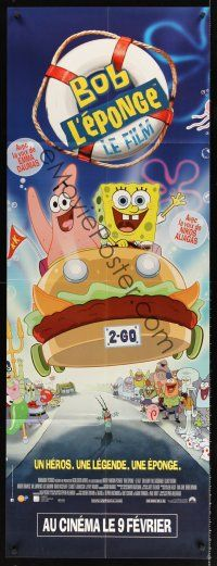 7m055 SPONGEBOB SQUAREPANTS MOVIE French door-panel '04 great different image with Patrick!