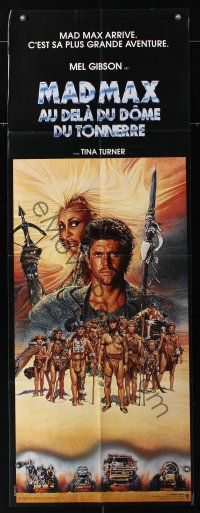 7m048 MAD MAX BEYOND THUNDERDOME French door panel '85 art of Mel Gibson & Tina Turner by Amsel!