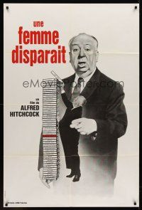 7m026 LADY VANISHES French 31x47 R70s great artwork of Alfred Hitchcock!