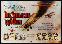 7m067 ACES HIGH German 33x47 '76 Malcolm McDowell, different WWI airplane dogfight art!