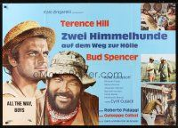 7m070 ALL THE WAY BOYS German 33x47 '73 Terence Hill & Bud Spencer, the Trinity boys!