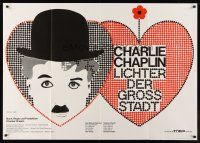 7m080 CITY LIGHTS German 33x47 R70 cool different mosaic artwork of Charlie Chaplin!