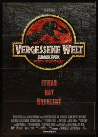 7m098 JURASSIC PARK German 33x47 '93 Steven Spielberg, Richard Attenborough re-creates dinosaurs!