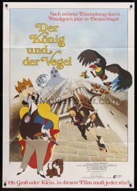 7m099 KING & THE MOCKING BIRD German 33x47 '80 Paul Grimault' Le Roi et l'oiseau, cool cartoon!