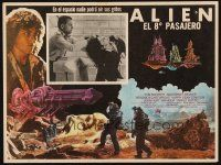 7m622 ALIEN Mexican LC '79 Ian Holm grabs Sigourney Weaver, Ridley Scott sci-fi classic!