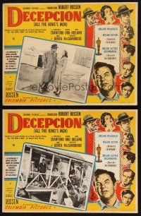 7m593 ALL THE KING'S MEN 2 Mexican LCs '50 Broderick Crawford as Louisiana Governor Huey Long!