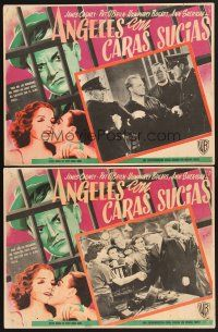 7m594 ANGELS WITH DIRTY FACES 2 Mexican LCs R50s James Cagney, Pat O'Brien & Dead End Kids classic!