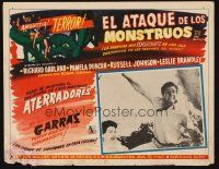 7m625 ATTACK OF THE CRAB MONSTERS Mexican LC '57 Roger Corman, great monster border art!