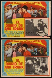 7m601 DIARY OF ANNE FRANK 2 Mexican LCs '59 Millie Perkins as Jewish girl in hiding in WWII!