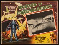 7m652 EARTH VS. THE FLYING SAUCERS Mexican LC '56 airplane faces attack from alien ship!