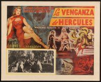 7m677 HERCULES & THE HYDRA Mexican LC '60 different art of sexy Jayne Mansfield & Mickey Hargitay!