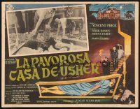 7m679 HOUSE OF USHER Mexican LC '60 Edgar Allan Poe's tale of the ungodly & evil!
