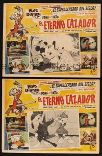 7m554 HUNTING INSTINCT 5 Mexican LCs '61 Disney, great images of Mickey, Pluto & Donald Duck!