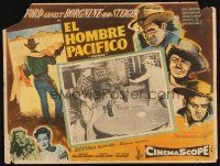 7m682 JUBAL Mexican LC '56 Ernest Borgnine holds Glenn Ford at gunpoint!
