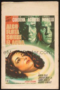 7m486 ALGO FLOTA SOBRE EL AGUA Mexican WC '48 artwork of top three stars by Espert!