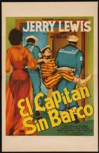 7m487 DON'T GIVE UP THE SHIP Mexican WC '59 different art of Jerry Lewis carried off by sailors!