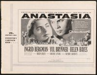 7m347 ANASTASIA pressbook '56 great romantic close up of Ingrid Bergman & Yul Brynner!