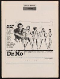 7m375 DR. NO pressbook '62 Sean Connery is the most extraordinary gentleman spy James Bond 007!