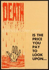 7m380 FACE OF TERROR pressbook '64 DEATH is the price you pay to look upon it!