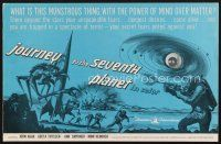 7m411 JOURNEY TO THE SEVENTH PLANET pressbook '61 they have terryfing powers of mind over matter!