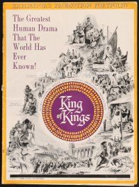 7m413 KING OF KINGS pressbook '61 Nicholas Ray Biblical epic, Jeffrey Hunter as Jesus!
