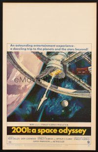 7m122 2001: A SPACE ODYSSEY WC '68 Stanley Kubrick classic, art of space wheel by Bob McCall!