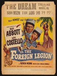 7m124 ABBOTT & COSTELLO IN THE FOREIGN LEGION WC '50 great wacky art of Bud Abbott & Lou Costello!