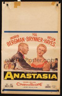 7m129 ANASTASIA WC '56 great romantic close up of Ingrid Bergman & Yul Brynner!