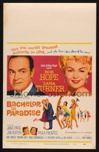 7m133 BACHELOR IN PARADISE WC '61 world's greatest lover Bob Hope romances sexy Lana Turner!