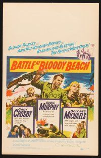 7m134 BATTLE AT BLOODY BEACH WC '61 Audie Murphy blazing and blasting the Pacific wide open!