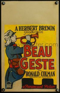 7m135 BEAU GESTE WC '26 different image of Legionnaire sounding his bugle!