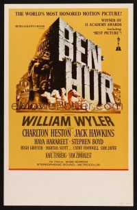 7m137 BEN-HUR WC R69 Charlton Heston, William Wyler classic religious epic, cool chariot art!