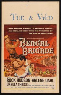 7m136 BENGAL BRIGADE WC '54 Rock Hudson & Arlene Dahl romancing and fighting in India!