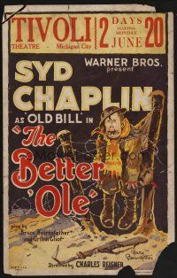 7m138 BETTER 'OLE style C WC '26 Syd Chaplin as Old Bill, great comic art by Bruce Bairnsfather!