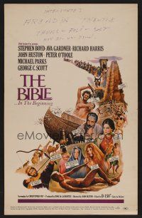 7m139 BIBLE WC '67 La Bibbia, John Huston as Noah, Stephen Boyd as Nimrod, Ava Gardner as Sarah