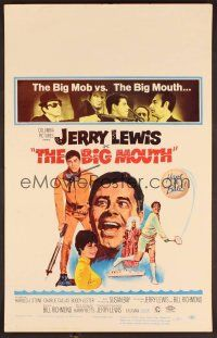 7m140 BIG MOUTH WC '67 Jerry Lewis is the Chicken of the Sea, hilarious D.K. spy spoof artwork!