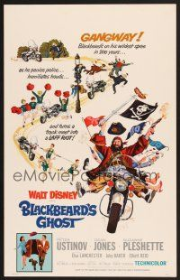 7m144 BLACKBEARD'S GHOST WC '68 Walt Disney, artwork of wacky invisible pirate Peter Ustinov!