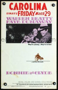 7m146 BONNIE & CLYDE WC '67 notorious crime duo Warren Beatty & Faye Dunaway!