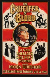 7m167 CRUCIFER OF BLOOD stage play WC '78 cool art of detective Sherlock Holmes by Van Nutt!